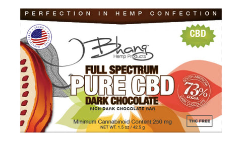 CBD Dark Chocolate Bar - 250mg - 1.5oz