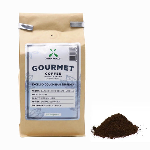 Excelso Colombian Supremo Coffee - 250mg - 8 oz Bag