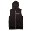 Zip-up Boxing Los Angeles Sleeveless Hoodie