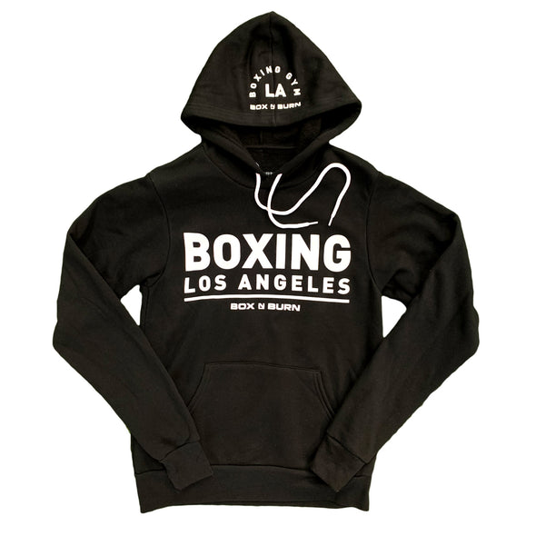 Boxing Los Angeles Black White Hoodie
