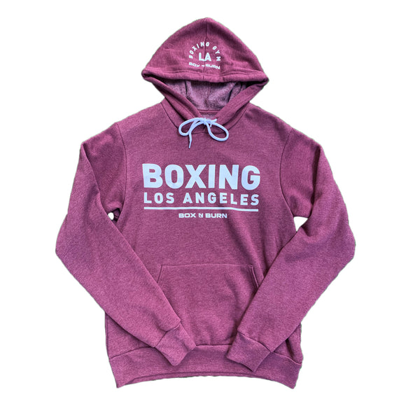 Boxing Los Angeles Heather Maroon Hoodie
