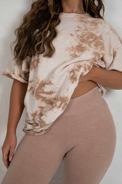 Dark Sand High Waisted Leggings