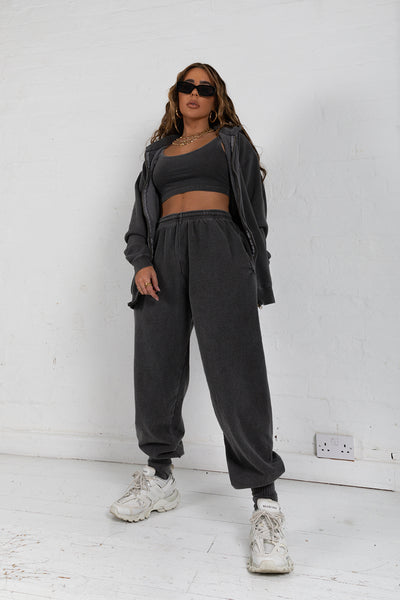 Washed Charcoal Joggers