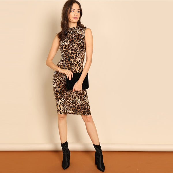 Leah Leopard Print Dress