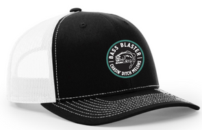 BassBlaster Circle Chasin' Ditch Melons Richardson Trucker Twill Mesh Snapback