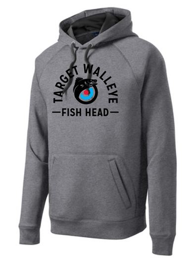 Target Walleye Fish Head Tech Fleece Hooded Sweatshirt
