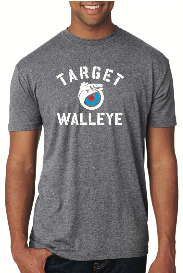 Target Walleye Block Letter T-Shirt
