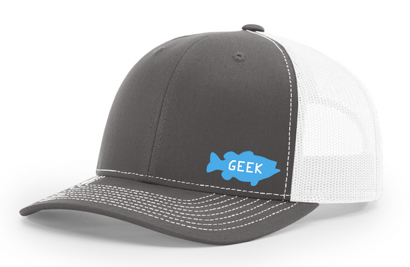 Bass Geek Small Logo Richardson Trucker Twill Mesh Snapback Cap