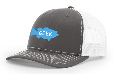 Bass Geek Large Logo Richardson Trucker Twill Mesh Snapback Cap