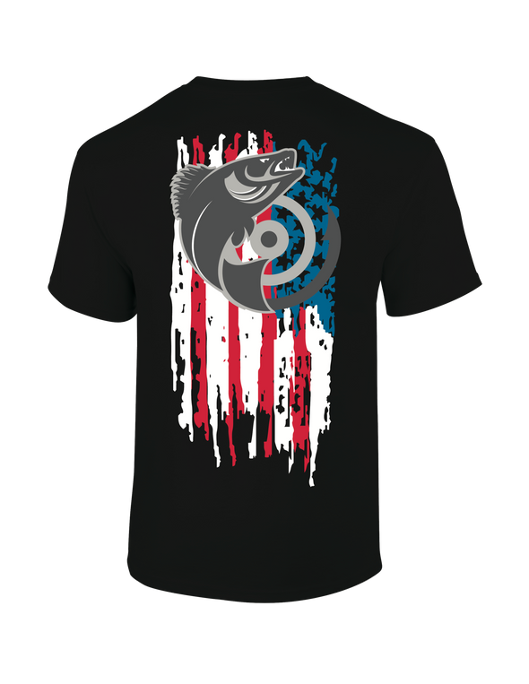 Target Walleye American Flag T-Shirt