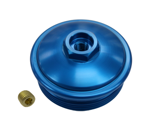 6.0 Powerstroke Blue Fuel Filter Cap NPT Port