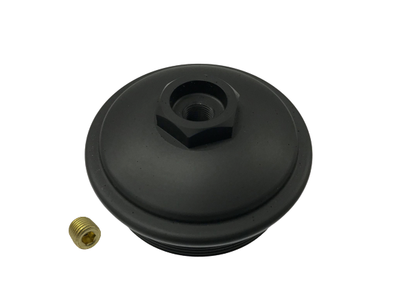 6.0L Ford Powerstroke - Billet Aluminum, Anodized Black, Fuel Filter Cap / Tool