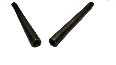 "THREADED STEEL SWEDGE TUBES - 10"" long with 5/8 & 11/16 threads - Chromoly"