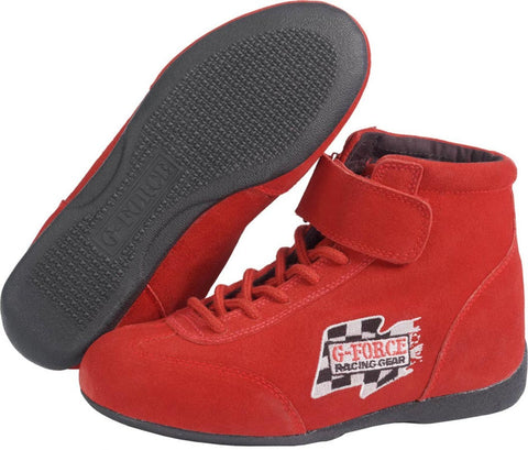 GF235 RaceGrip Mid-Top Shoes Red Size 7
