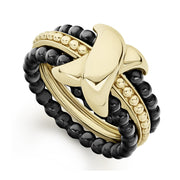 18K Yellow Gold X-motif Color Switch Ring