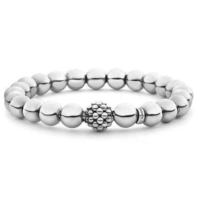 Sterling Silver Caviar Collection Bead Bracelet