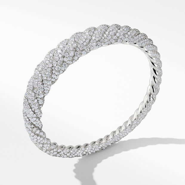 Pure Form® Cable Diamond Bracelet in 18K White Gold