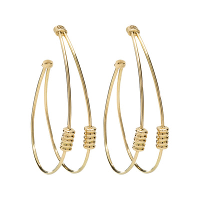 18K Yellow Gold Linea Collection Double Hoop Earrings