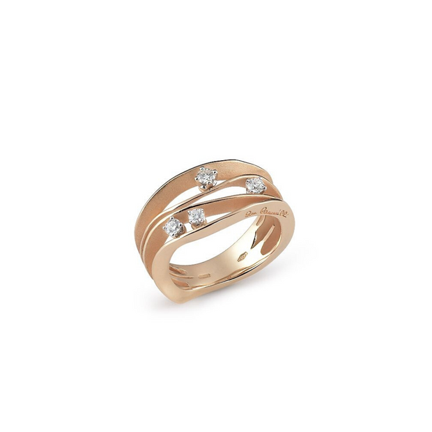 18K Orange Apricot Gold Dune Collection Diamond Ring