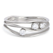 18K White Gold Dune Collection Diamond Ring