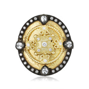 Armenta Old World Collection Heraldry Shield Ring