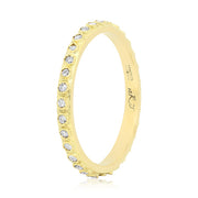 18K Yellow Gold Old World Collection Diamond Band