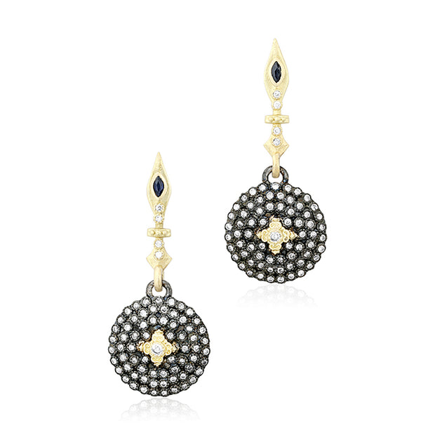 Armenta Old World Collection Sterling Silver and 18K Yellow Gold Drop Earrings
