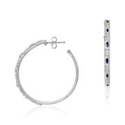 Sterling Silver Old World Collection Hoop Earrings