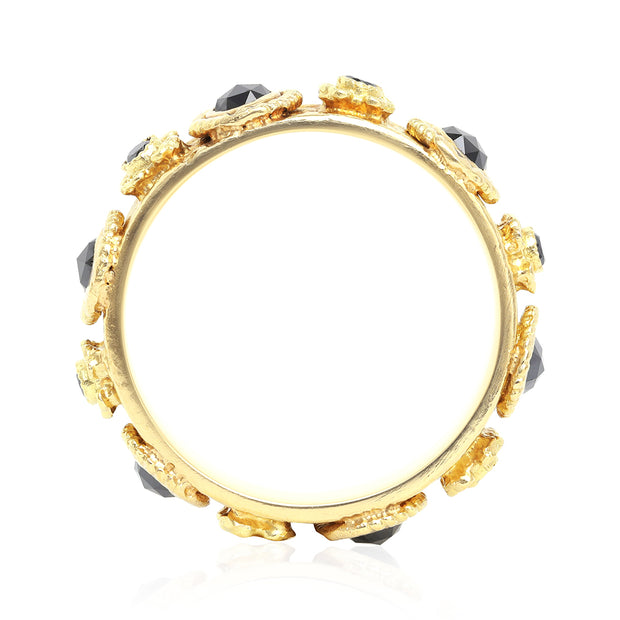 18K Yellow Gold Sueno Collection Black Diamond Ring