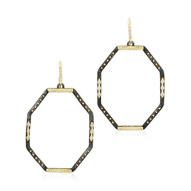 Armenta Old World Collection Octagon Hoop Earrings