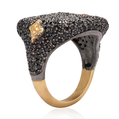 Sterling Silver and 18K Yellow Gold Old World Collection Ring