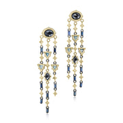 Sterling Silver Old World Collection Chandelier Earrings