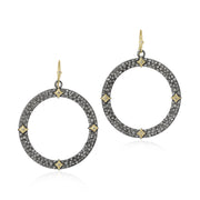 Sterling Silver Cuento Collection Circle Drop Earrings