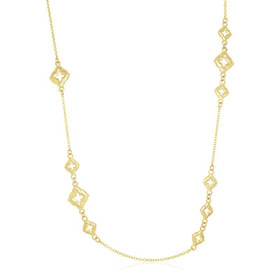 18K Yellow Gold Sueno Collection Scroll Chain Necklace