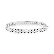 Brady Legler Sterling Silver Bullseye Bracelet with Diamonds and Black and White Enamel
