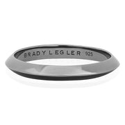 Sterling Silver Ruthenium Finish Knife Edge Eternity Band