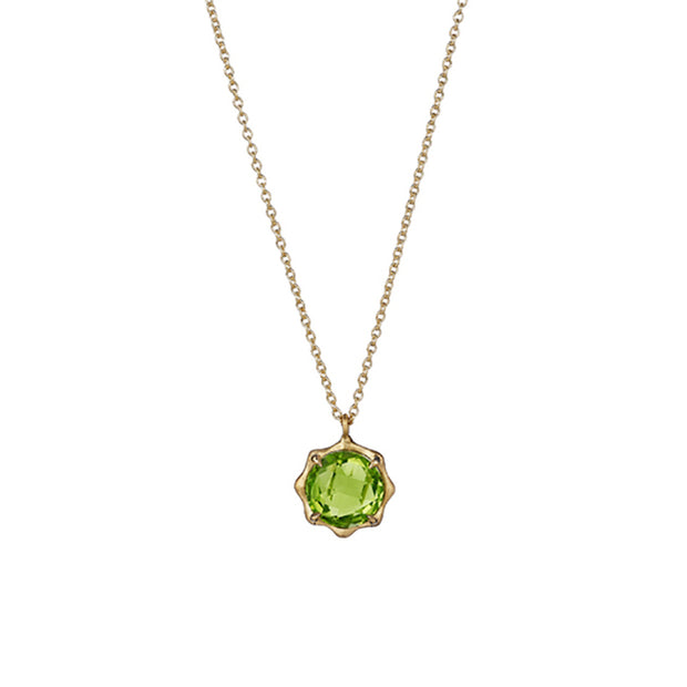 18K Yellow Gold  Peridot Birthstone Collection Necklace