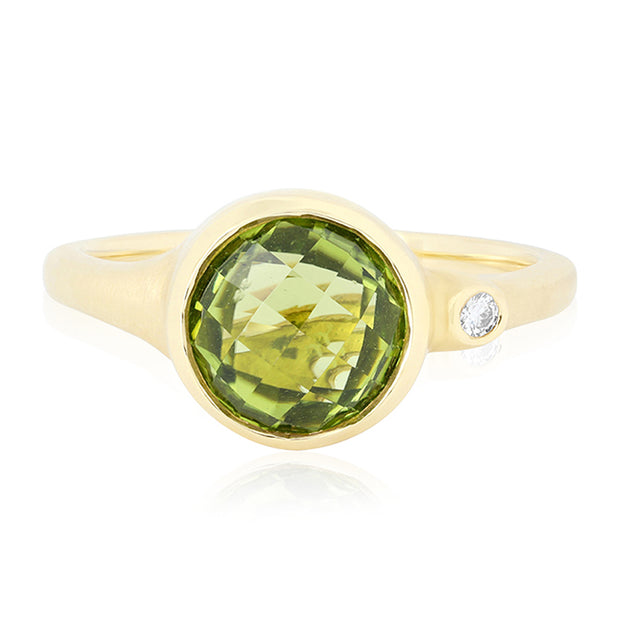 Carelle 18K Yellow Gold Peridot Ring