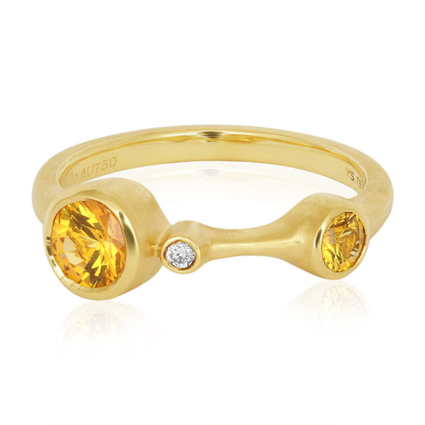 Carelle Yellow Gold Sapphire and Diamond Ring