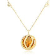 18K Yellow Gold Brooke Leaf Collection Necklace