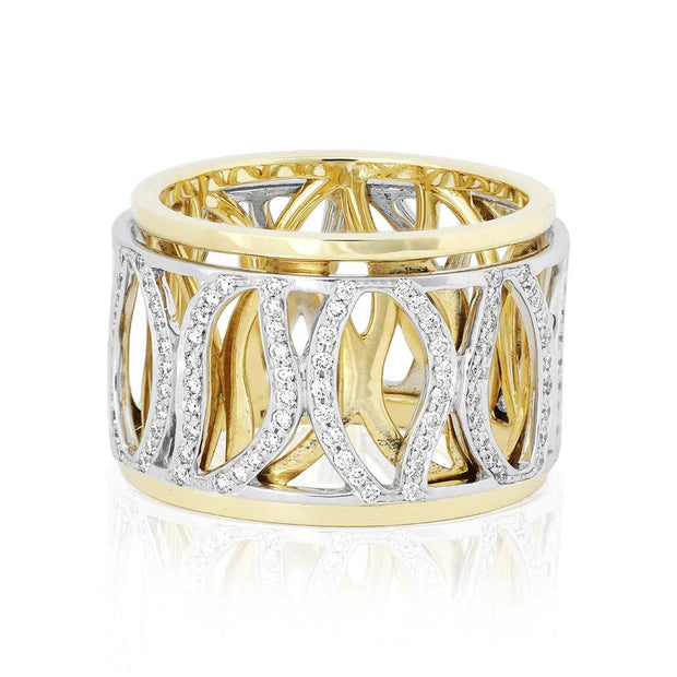 Carelle 18k Yellow and White Gold Athena Ring