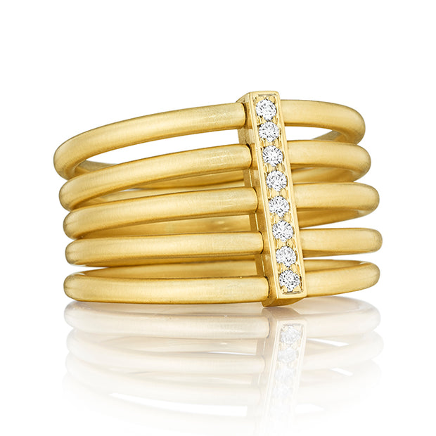 Carelle 18K Yellow Gold Ring with Diamonds