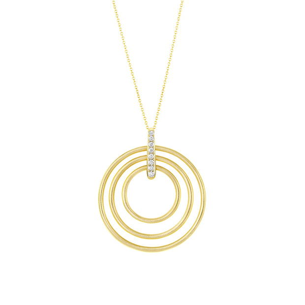 Carelle Yellow Gold Moderne Necklace