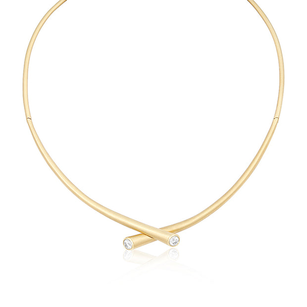 Carelle 18K Yellow Gold Diamond Whirl Necklace
