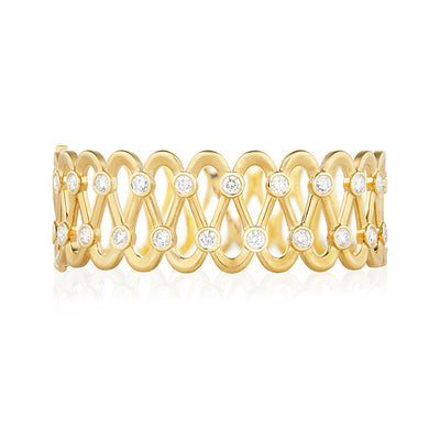 Yellow Gold Lace Bracelet