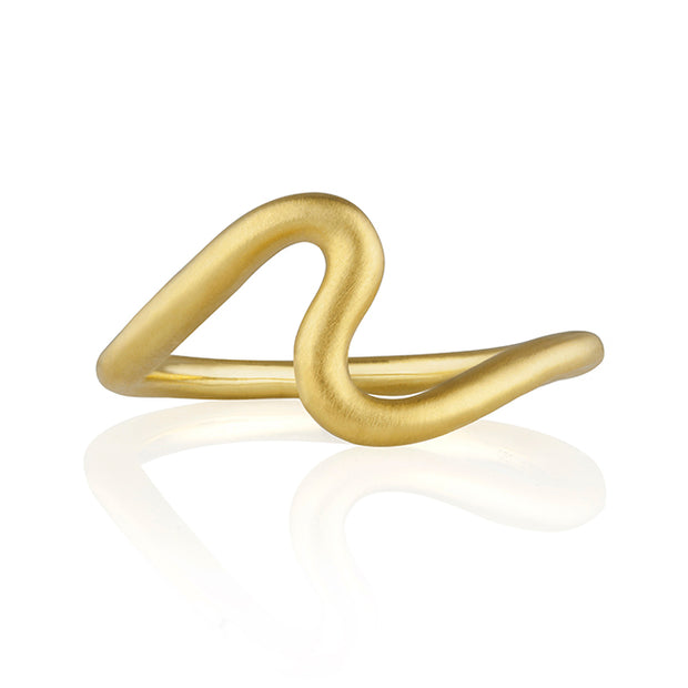 18K Yellow Gold Wave Ring