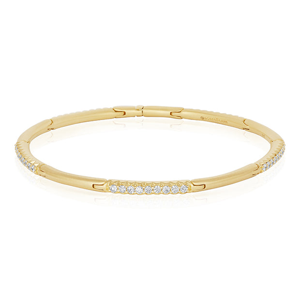Carelle 18K Yellow Gold Diamond Hinged Bracelet