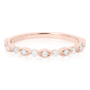 18K Rose Gold and Diamond Band