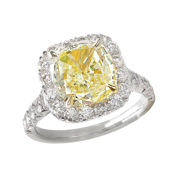 Henri Daussi Yellow Diamond Ring