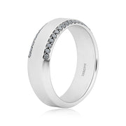 Henri Daussi White Gold  Black Diamond Band